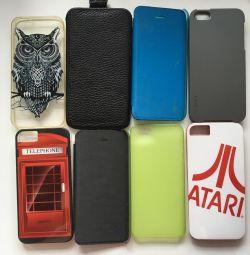 İphone 5 iphone 5 5s için kapak çevirin, klip, tampon
