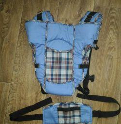 Backpack carrying kangaroo