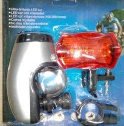Фонарь велосипедный набор FF-309 новые