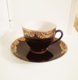 Pereche de ceai de porțelan LFZ