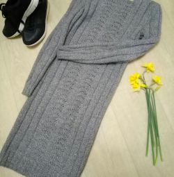 Knitted dress, warm