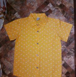 Children's shirts on the boy