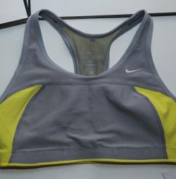 Nike Top for fitness gray, short new