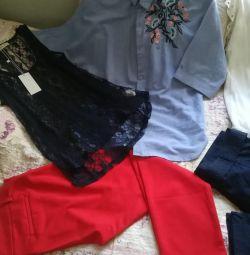 Новые брюки и блузки р. 48-50