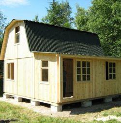 Proiecte de case de țară cu mansardă.