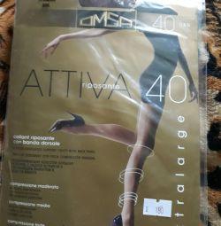 Tights new r. 6 Omsa Attiva 40 Dan
