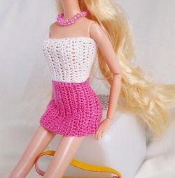 Skirt, top, doll bag