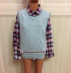 Gray tank top for girls p. 128, shirt