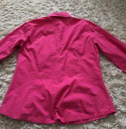 Φωτεινή μπλε ροζ μπλούζα