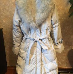 Jacheta 42 - 44 mărime cu blană naturală.