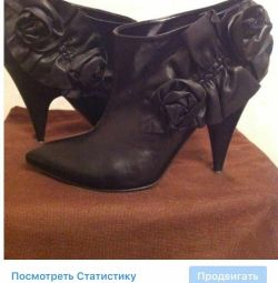 Ankle boots Kaliste Italy 39 black leather w /