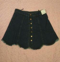 NEW denim skirt