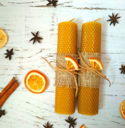 Set of interior candles