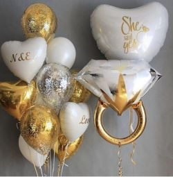 Balloons for a bachelorette party