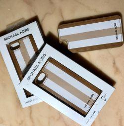 Δερμάτινη θήκη ανθεκτική για το iPhone 7 Michael kors