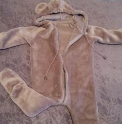 Overalls bear fleece (plush)
