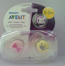 Philips AVENT mini-soother for girls (0-2 months)