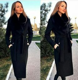 Coat for winter with fur