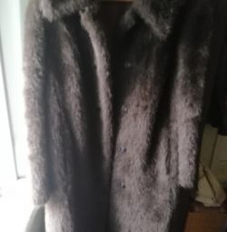 Fur coat artificial, new r50-52