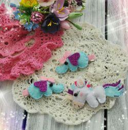 Handmade felt handbags