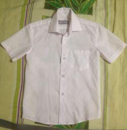 Сорочка на хлопчика 6-8 років з коротким рукавом