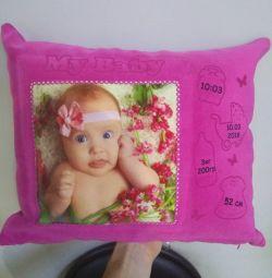 Подушка Метрика с фото
