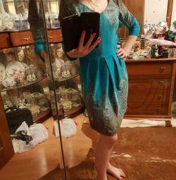 Платье бирюзовое змея