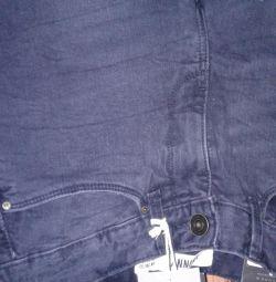 Siyah yeni skinny jean pantolon. açık artırma