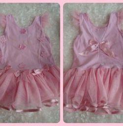 Боди - платье для девочки 2-3 лет