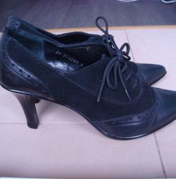 Genuine leather and suede shoes