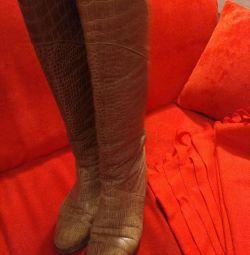 Сапожки кожаные, 39 размер