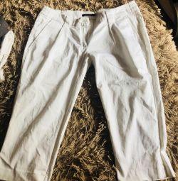 Білі завужені штани, біржі спідниця