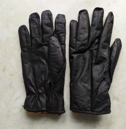USSR winter leather gloves