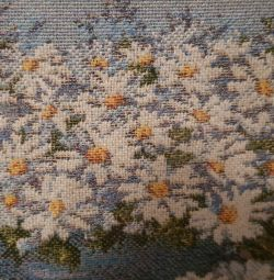 Картина Гобелен Квіти ромашки