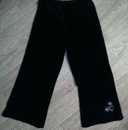 Black velor pants for 5 years