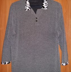 women's blouse with a leopard collar 54 times