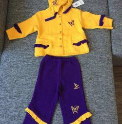 Bebek için fleece YENİ Suit