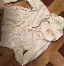 Джинсовая куртка L