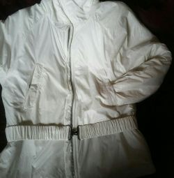 Very light, women's jacket, white.