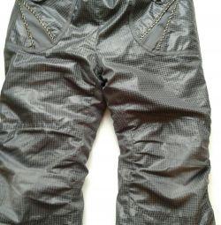 Warm trousers on fleece, winter