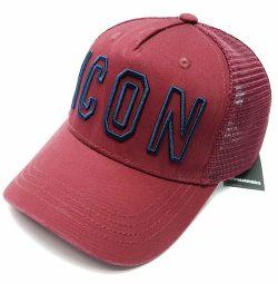 Бейсболка Dsquared Icon (бордовий) сітка