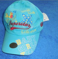 Καπέλο μπέιζμπολ για κορίτσια р.50-52 νέο