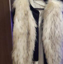 The vest is fur