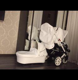 Stroller 2 in 1 Hartan VIP XL eco leather