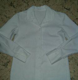 Kız için bluz beyaz okul r122-128