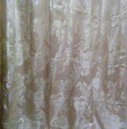 Silk opaque curtain