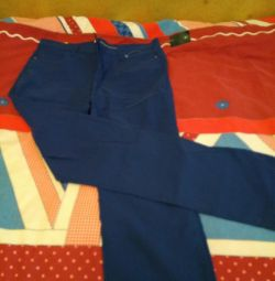 Pants stretch. Of blue color. Yessica. 48-50 rub.