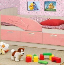 Дитяче ліжко Дельфін розов