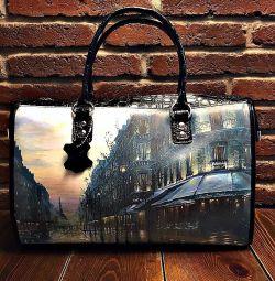 Νέα μαύρη τσάντα από δέρμα