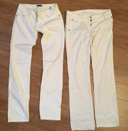 Blugi albi Armani, pantaloni Gucci. Italia originală